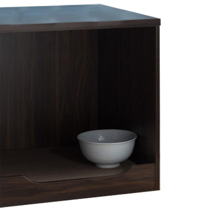 Brown Mat Wooden Pet End Table