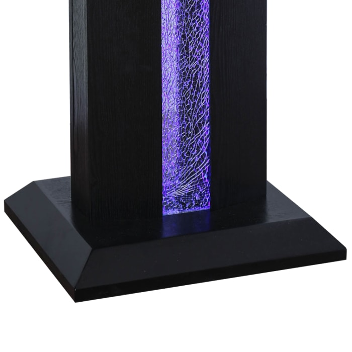 Black Contemporary Etched Glass Panel End Table