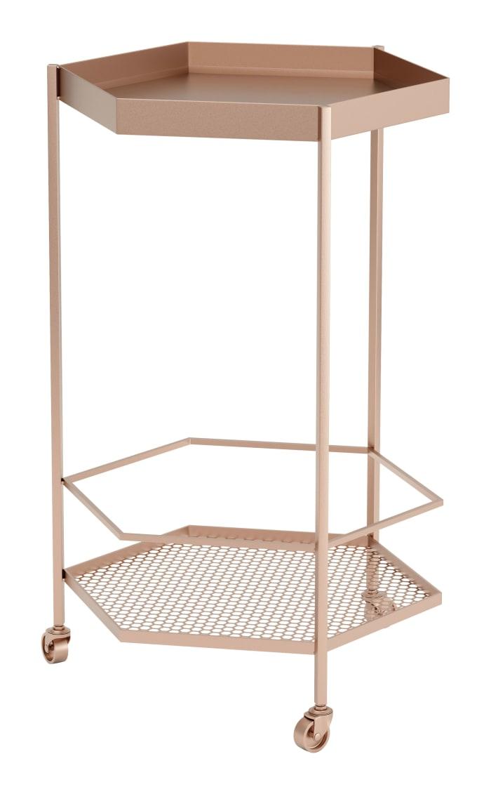 Steel Gold Bar Cart