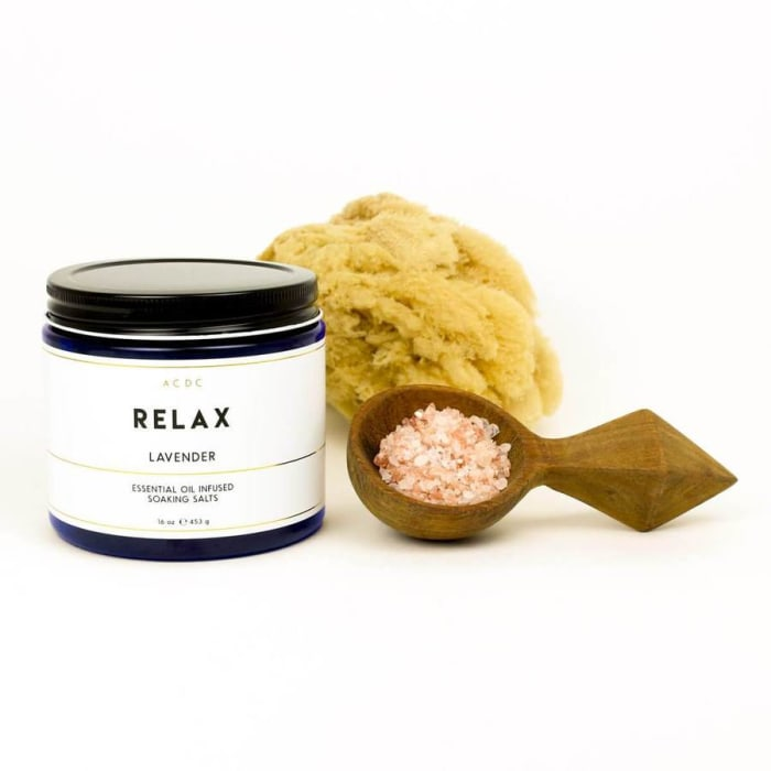 Relax Lavender Essential Oil Bath Soaking Salts