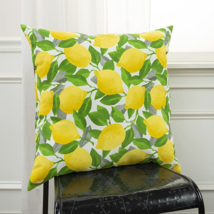 Lemons Printed Outdoor Pillow