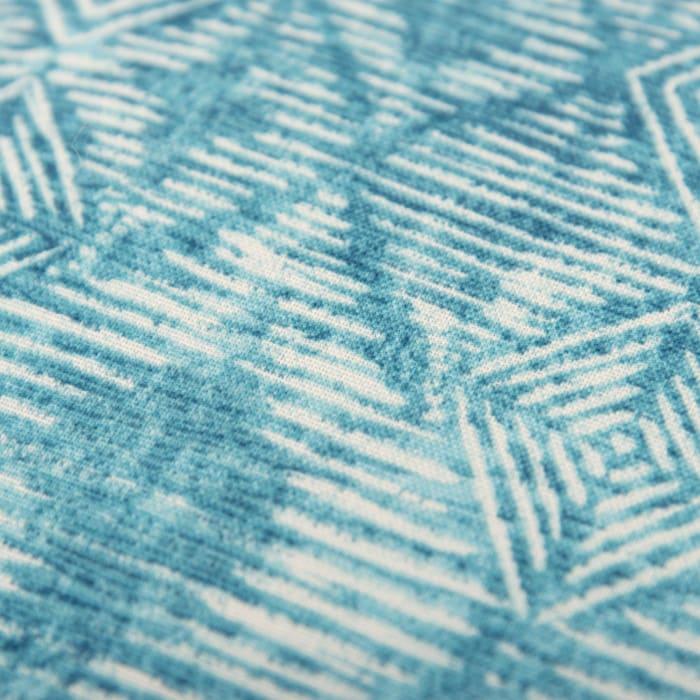 Blue Batik Pattern Printed Outdoor Pillow