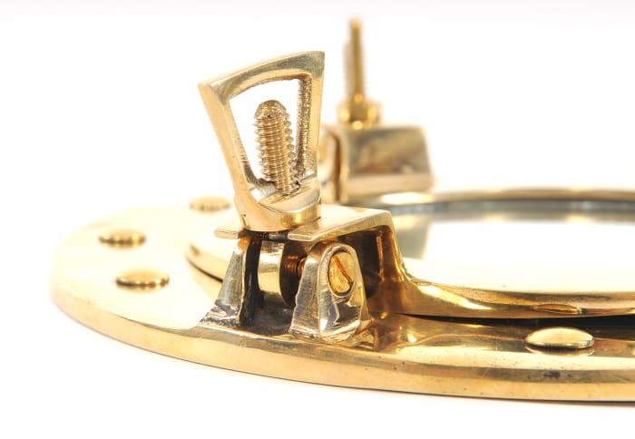 Vintage Look Brass Porthole Mirror