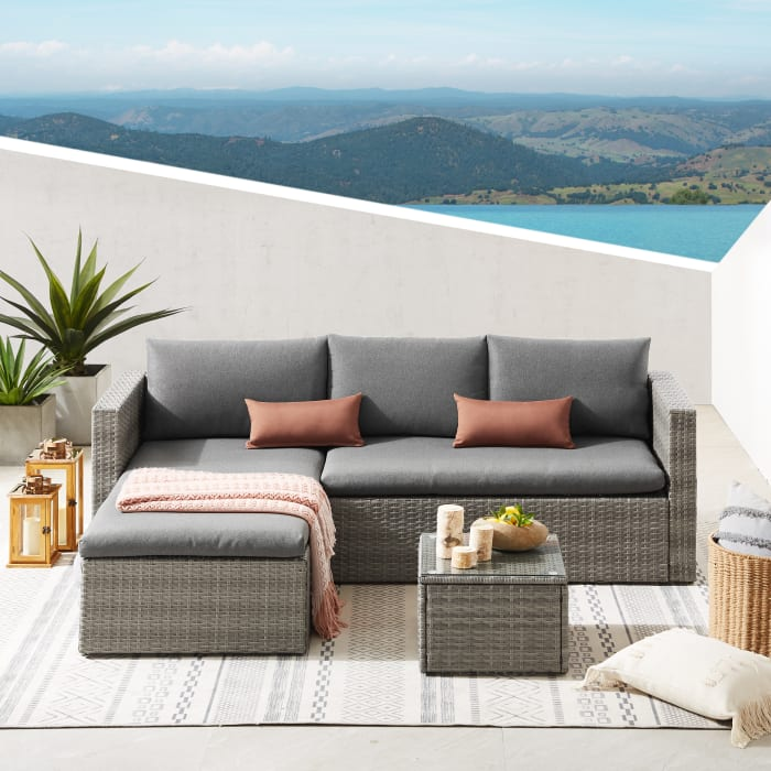 Wicker Outdoor Sectional Sofa Set Pier 1, Pier 1 Outdoor Furniture Cushions