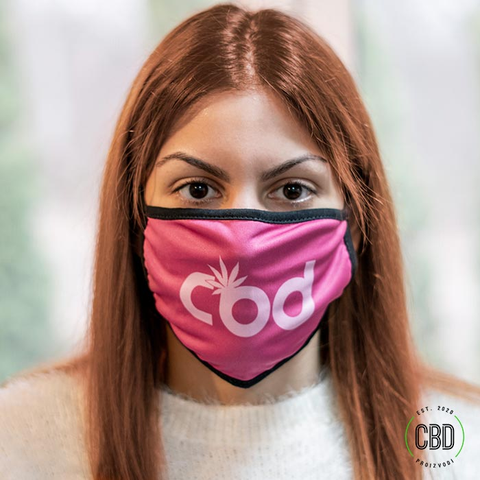 Maska za lice sa CBD natpisom - Slika 2
