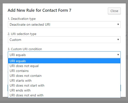 custom deactivation rules