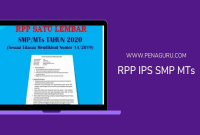 RPP Satu Lembar IPS SMP MTs