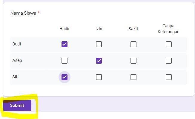 Cara Membuat Absensi Online Di Google Form www.penaguru.com