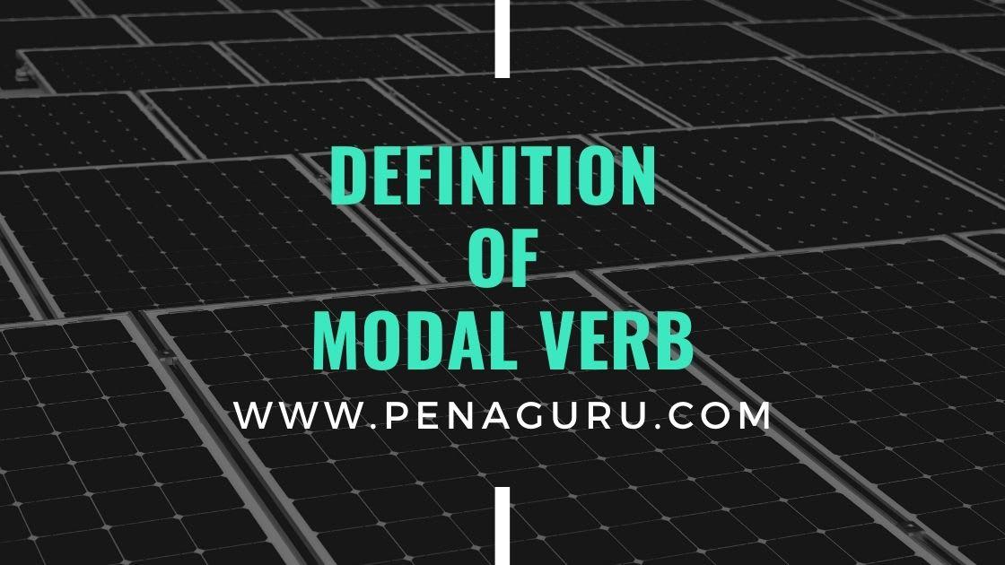 Macam-macam modal verbs