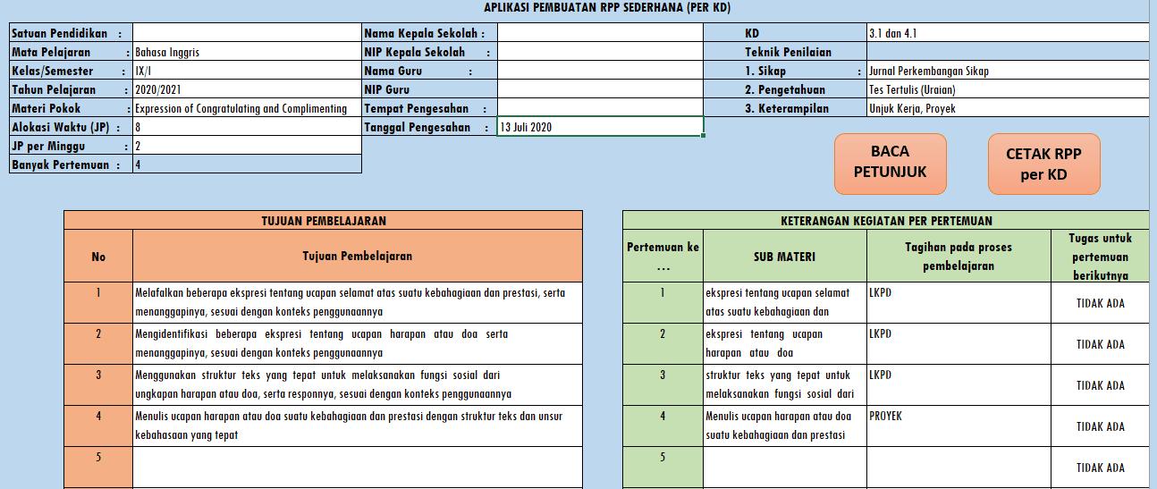 cara membuat RPP K13