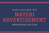 Materi Advertisement Text dalam Bahasa Inggris