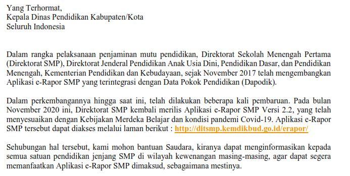 Panduan penggunaan e-raport SMP