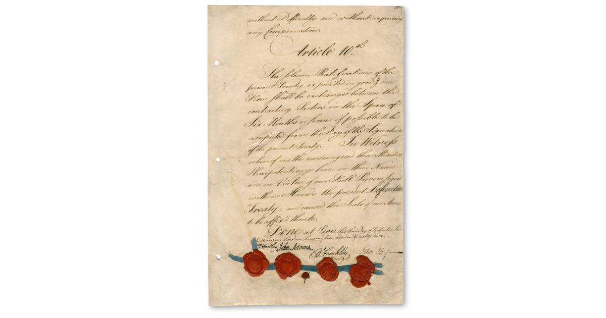 Treaty Of Paris Facts For Kids Dk Find Out