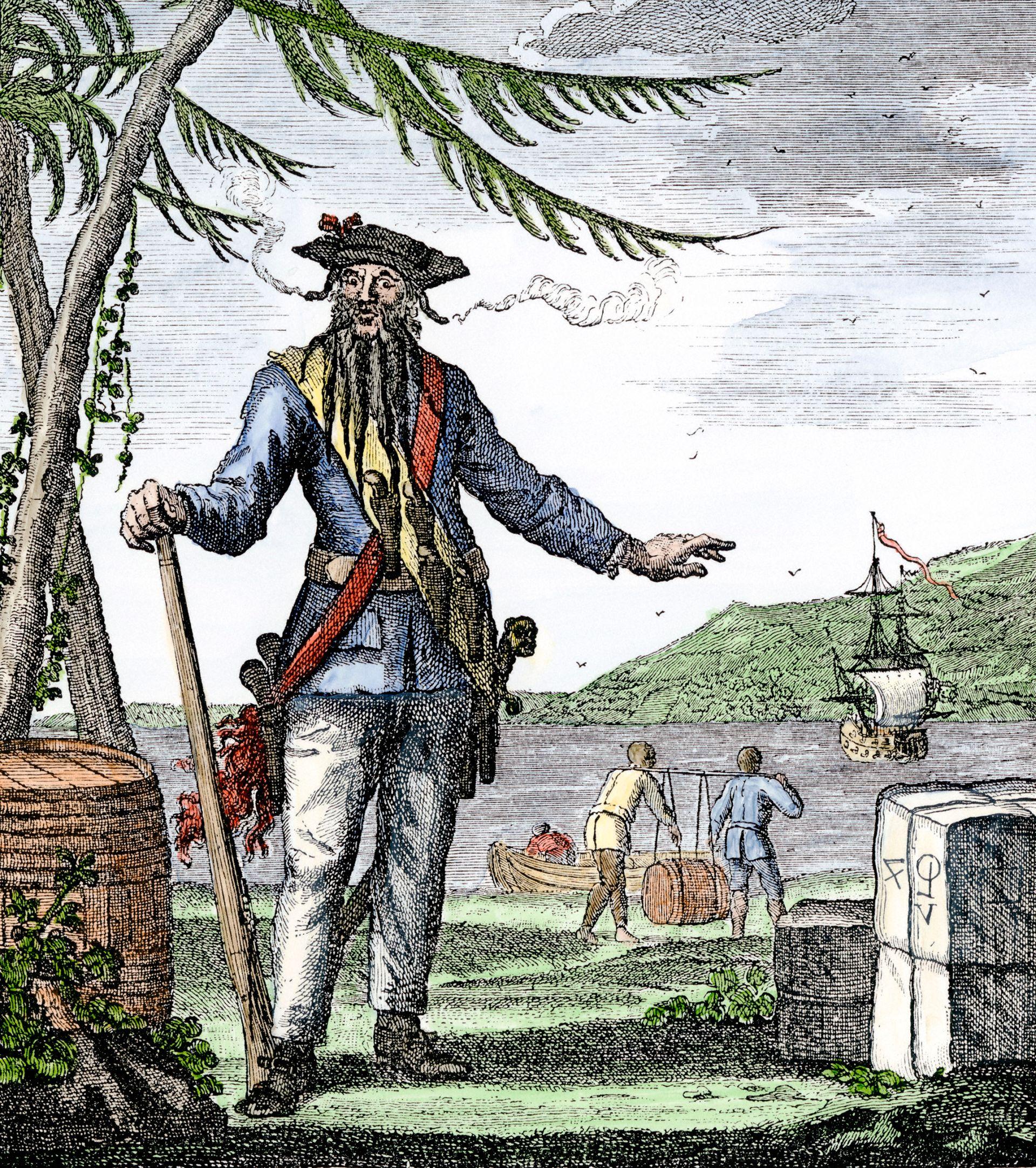 A Fanciful Account Of Maynard S Defeat Blackbeard