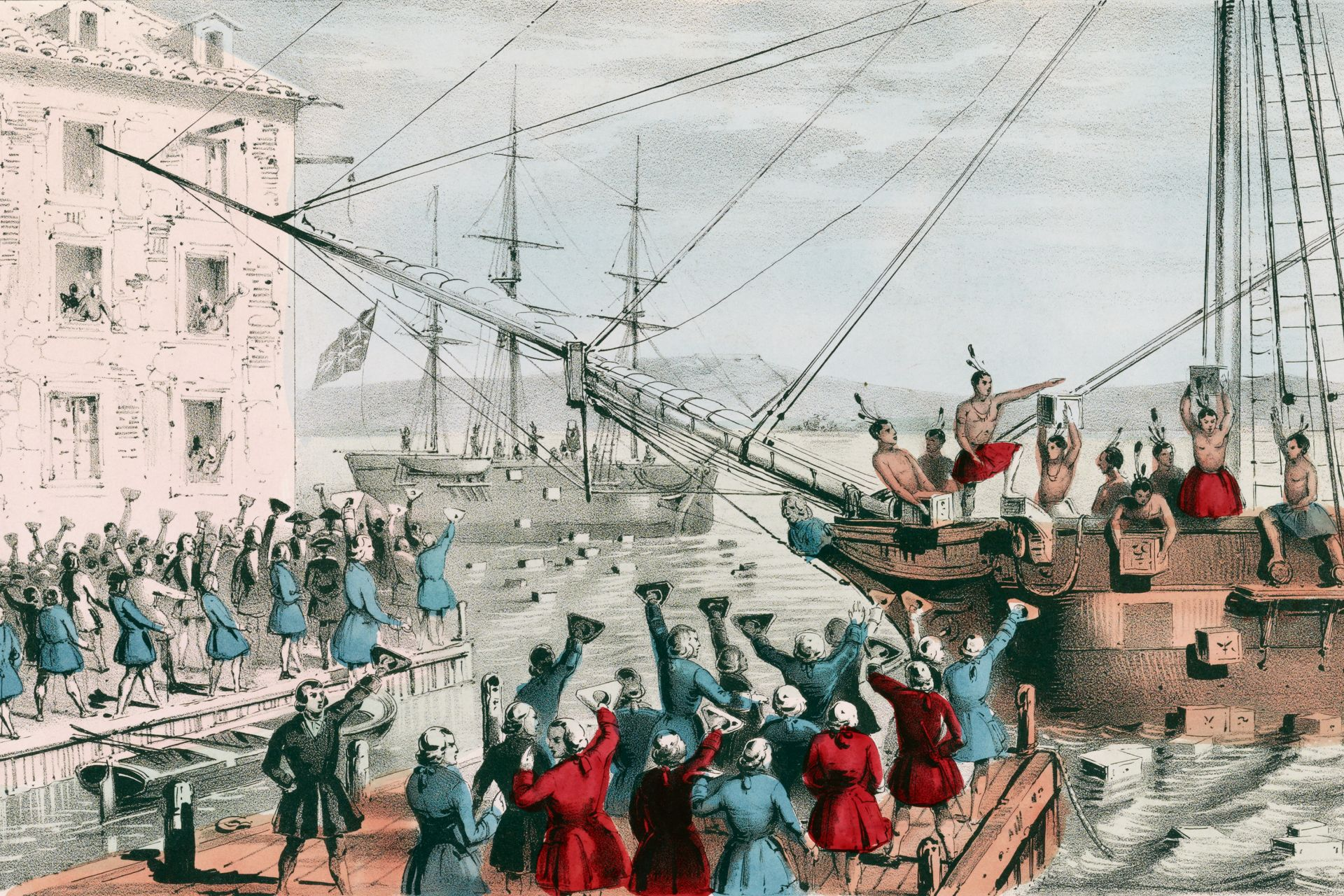 boston tea party 1875 centennial tea party at capitol question the boston tea party is well documented, but are there other instances of similar raids answer the boston tea party was one of many of confrontations from charleston, south carolina, to york, maine, in 1773 and 1774 to prevent shipments of east india tea from entering.