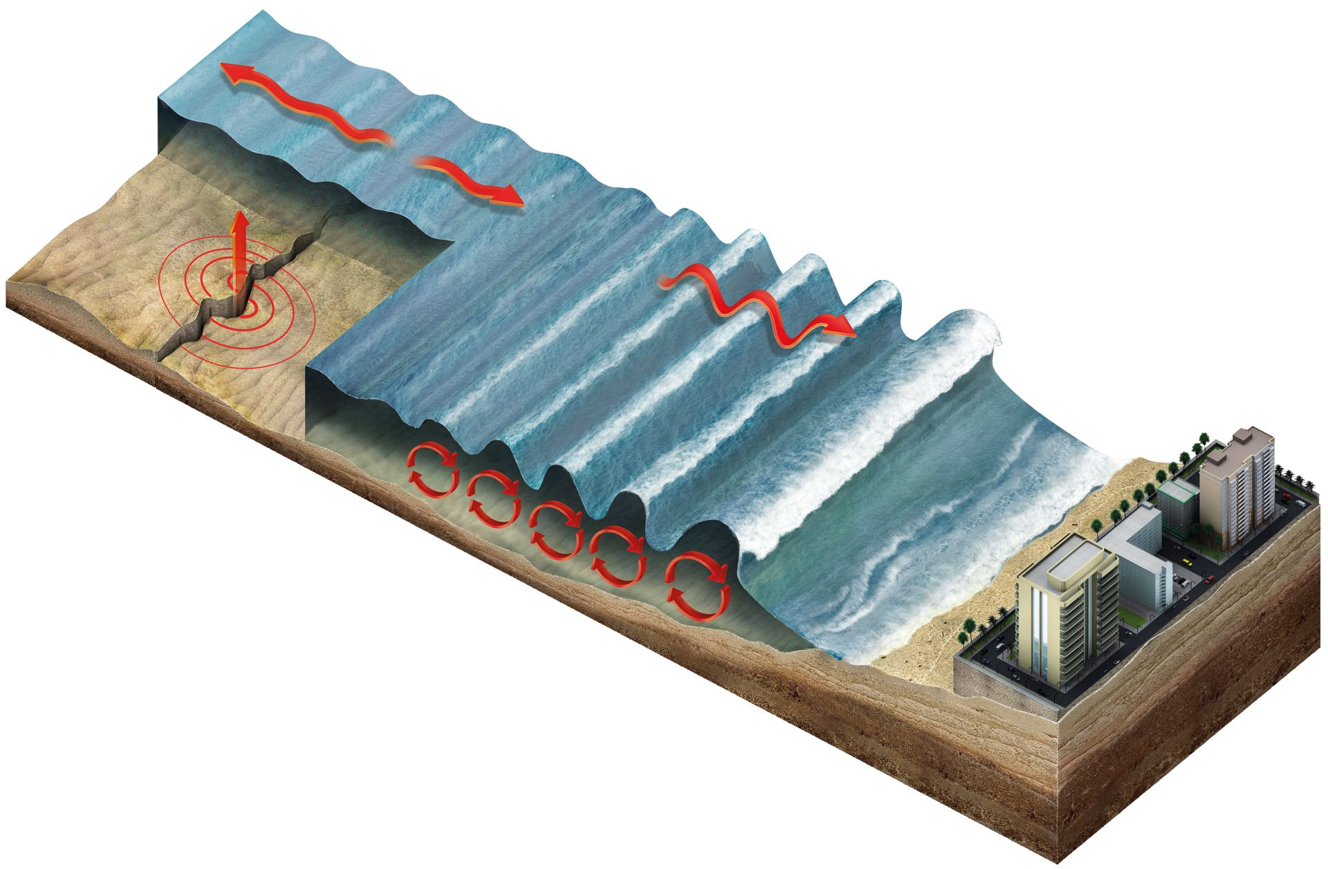 causes of tsunami A tsunami is a large ocean wave that is caused by sudden motion on the ocean  floor this sudden motion could be an earthquake, a powerful volconic eruption,.