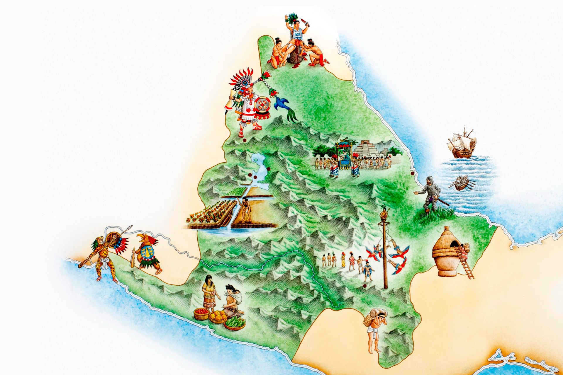 Aztec Empire World Map.Aztec Facts For Kids Aztec History For Kids Dk Find Out