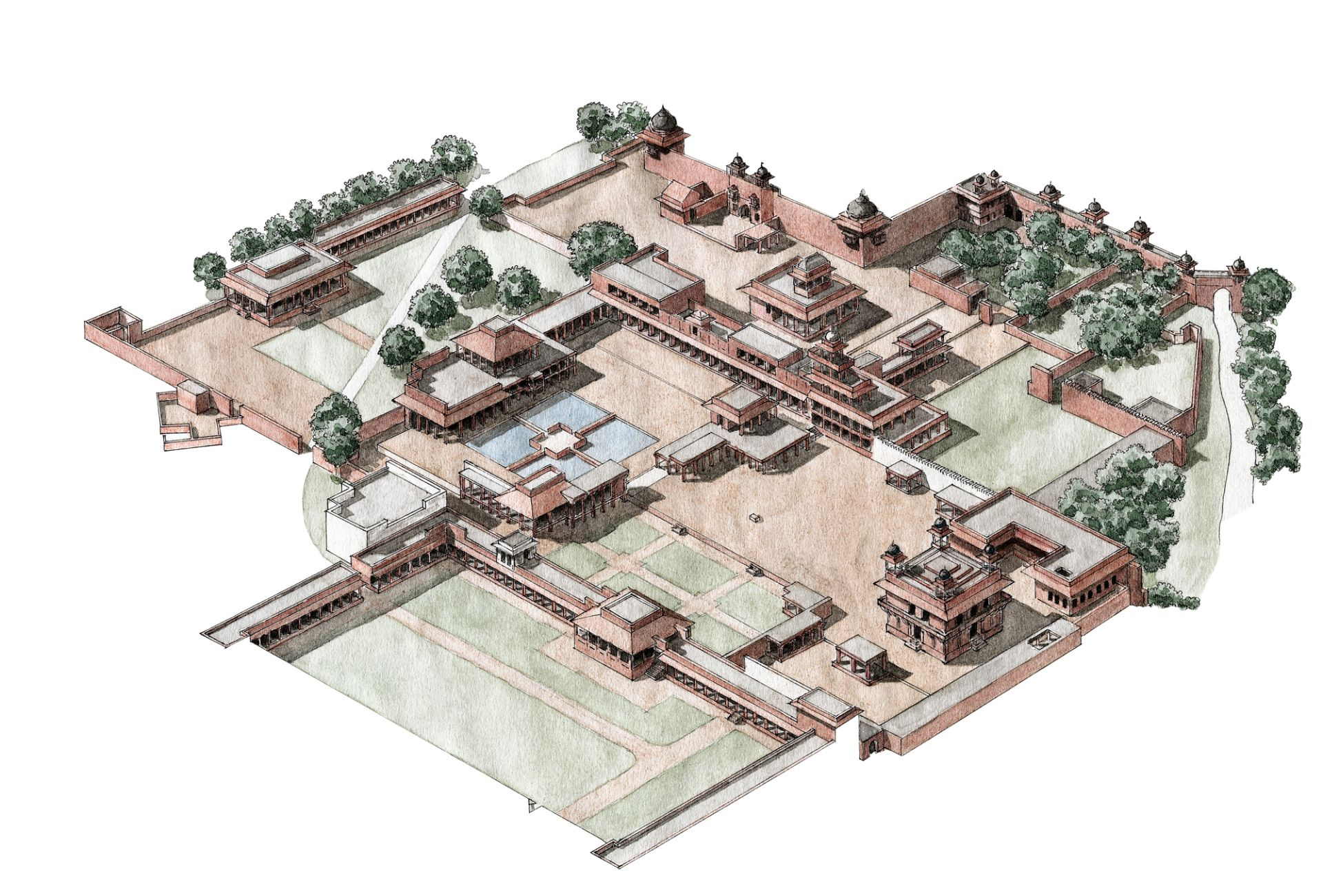 Fatehpur sikri fatehpur sikri history dk find out for Diwan i aam images