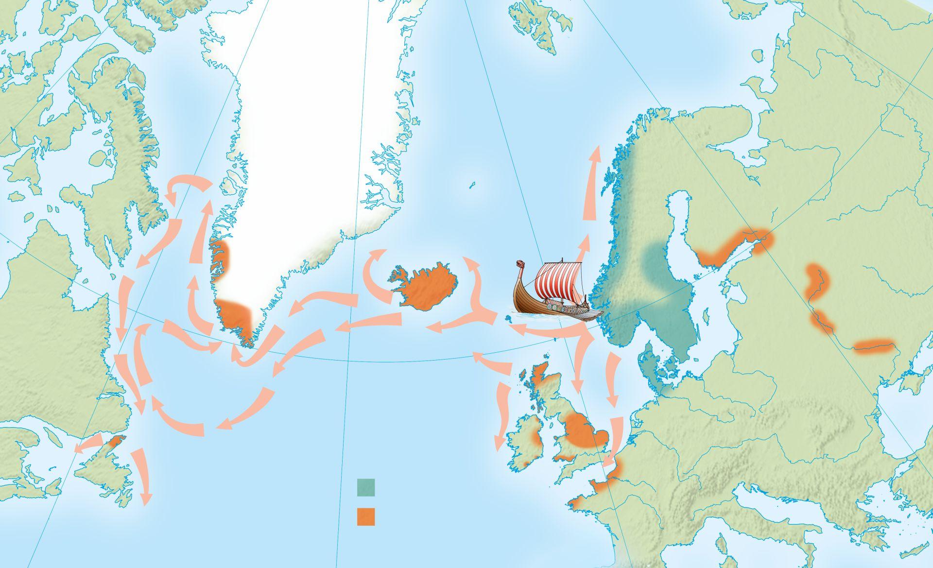Vikings Map Of Exploration Viking Explorers | Viking Exploration | DK Find Out
