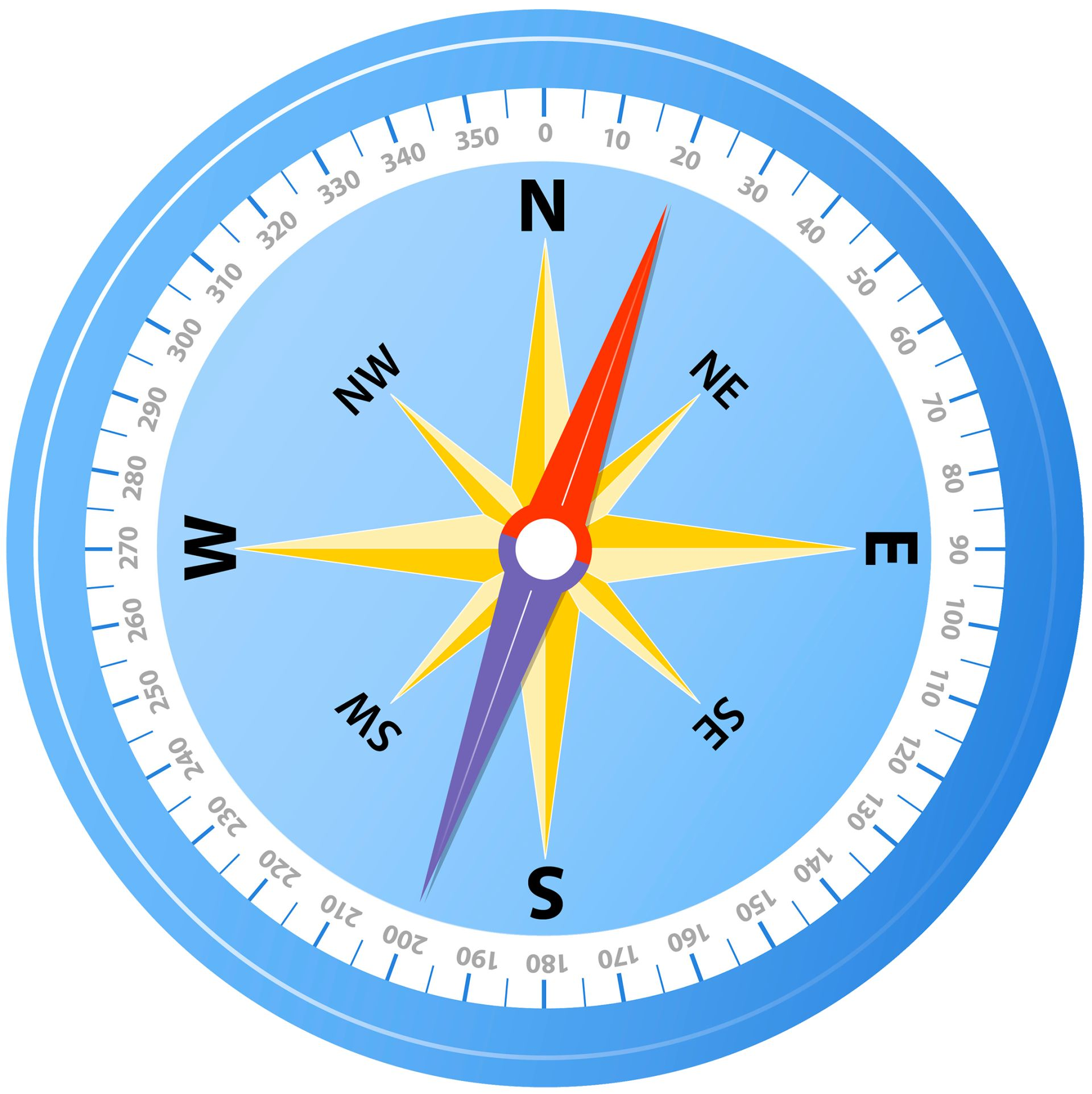 how to draw compasses for maps