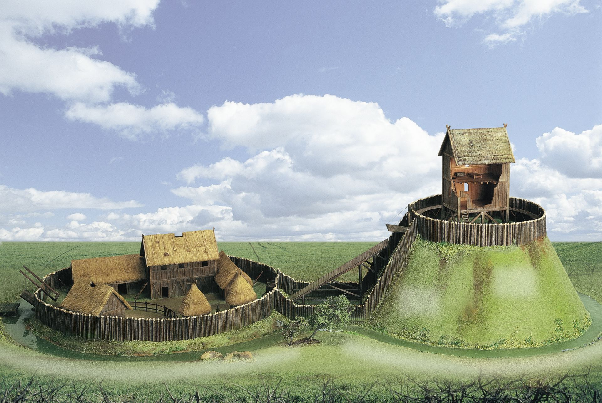 Motte and bailey castles facts early castles dk find out for The bailey