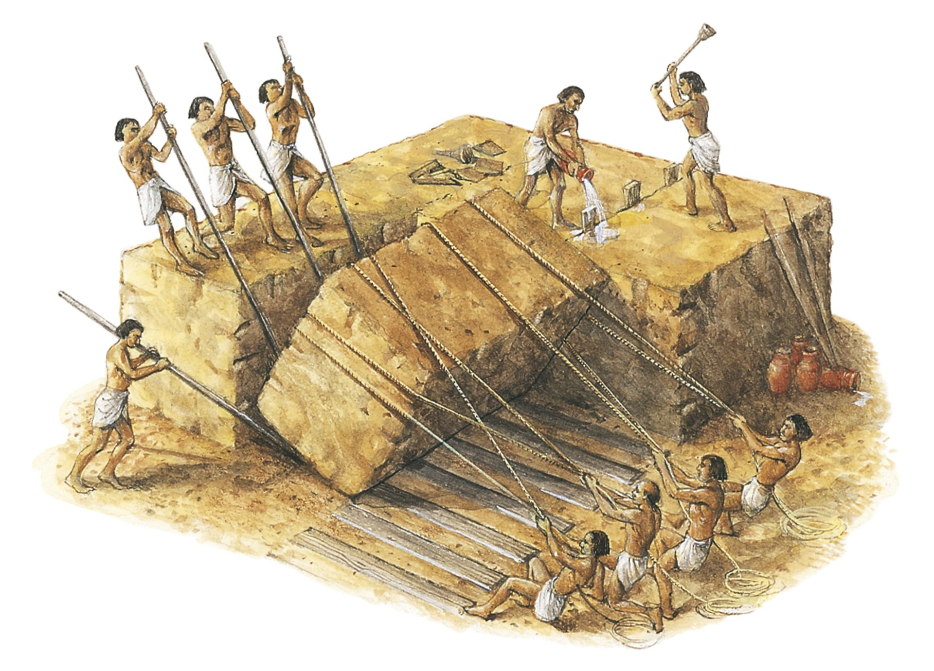 a history of the construction of the great pyramids of ancient egypt Glen dash, an engineer who studies the pyramids at giza as part of ancient egypt research associates (aera), noted that khufu's pyramid is aligned to true north within one-tenth of a degree.