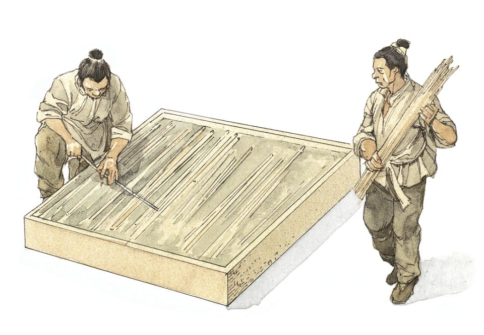 paper making Chinese paper making was introduced to korea and vietnam and later to japan at the beginning of the 3rd century it was a valued export in silk road trading, but the manufacturing process was kept secret.