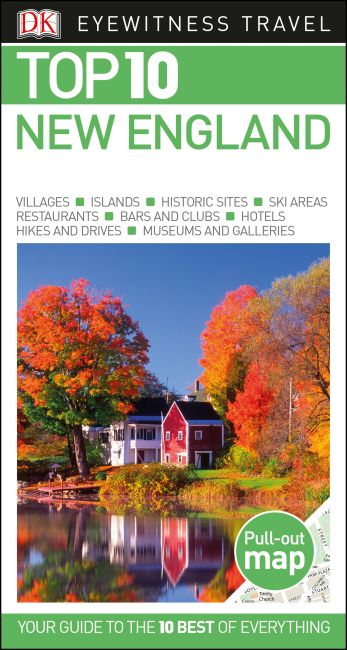 Paperback cover of DK Eyewitness Top 10 New England