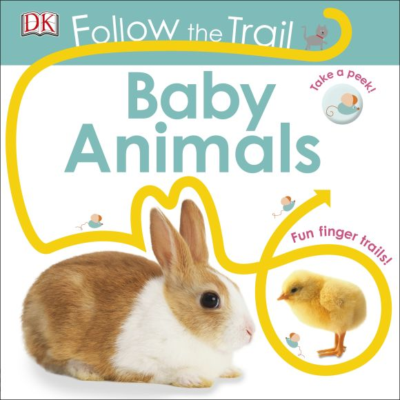 Board book cover of Follow the Trail: Baby Animals