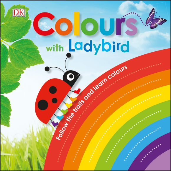 Board book cover of Colours with a Ladybird