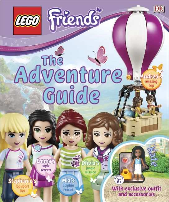 Hardback cover of LEGO FRIENDS: The Adventure Guide