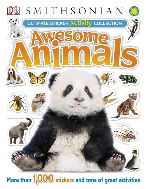 Paperback cover of Ultimate Sticker Activity Collection Awesome Animals