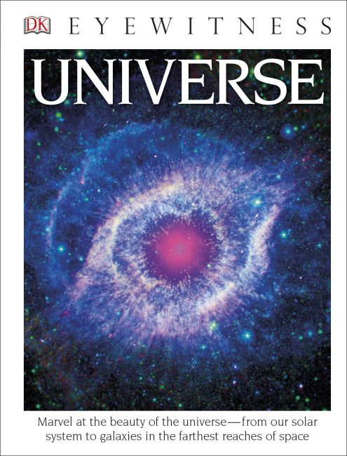 Hardback cover of DK Eyewitness Books: Universe