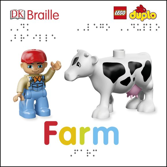 Board book cover of DK Braille LEGO DUPLO Farm
