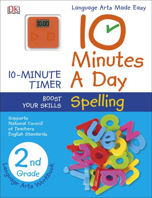 Paperback cover of 10 Minutes a Day: Spelling, Second Grade