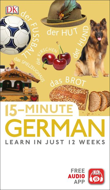 Paperback cover of 15-Minute German