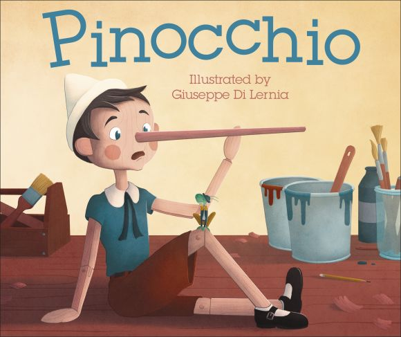 Board book cover of Pinocchio