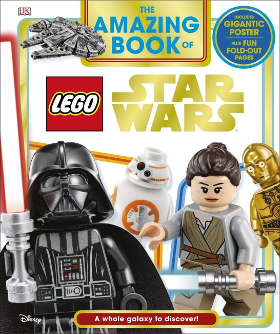 Hardback cover of The Amazing Book of LEGO Star Wars