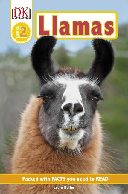 Paperback cover of DK Readers Level 2: Llamas