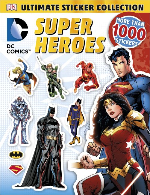 Paperback cover of Ultimate Sticker Collection: DC Comics Super Heroes