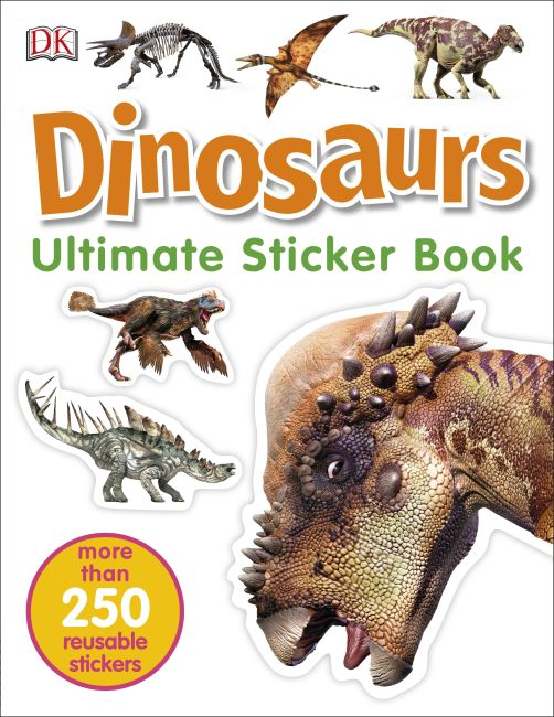 Paperback cover of Ultimate Sticker Book: Dinosaurs