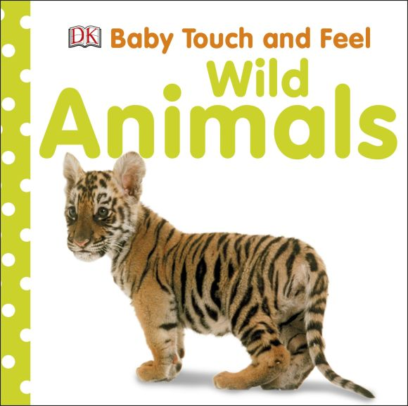Board book cover of Baby Touch & Feel: Wild Animals
