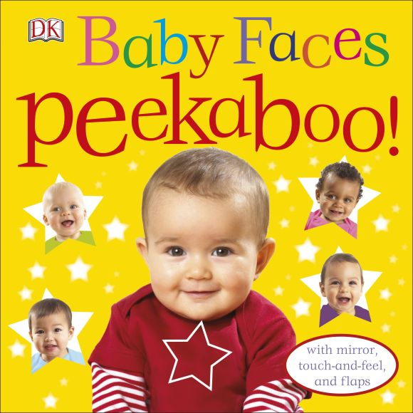 Board book cover of Baby Faces Peekaboo!