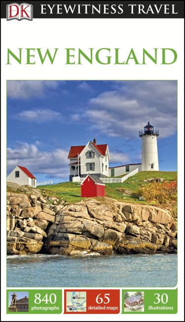 Paperback cover of DK Eyewitness New England Travel Guide
