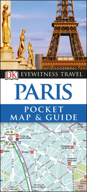 Paperback cover of Paris Pocket Map and Guide