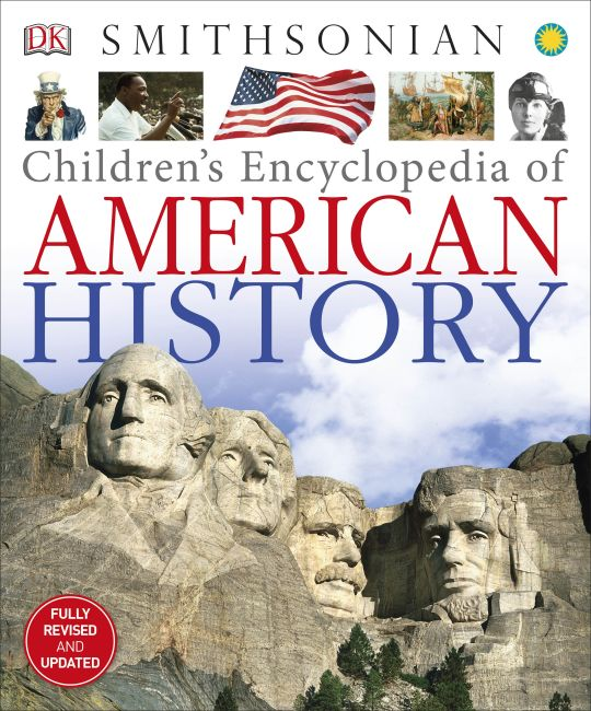 Hardback cover of Children's Encyclopedia of American History
