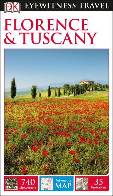 Paperback cover of DK Eyewitness Travel Guide Florence and Tuscany