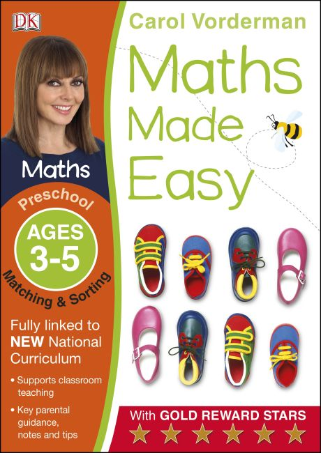 Paperback cover of Maths Made Easy Matching and Sorting Ages 3-5 Preschool Key Stage 0