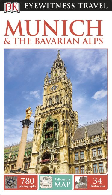 Paperback cover of DK Eyewitness Travel Guide Munich and the Bavarian Alps