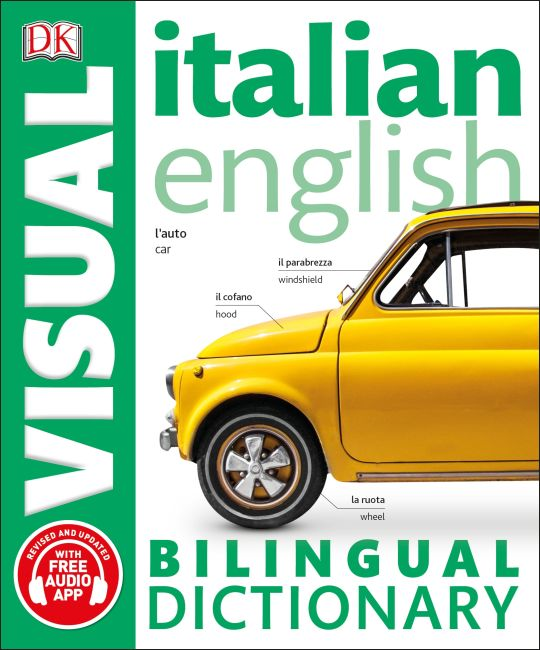 Paperback cover of Italian-English Bilingual Visual Dictionary